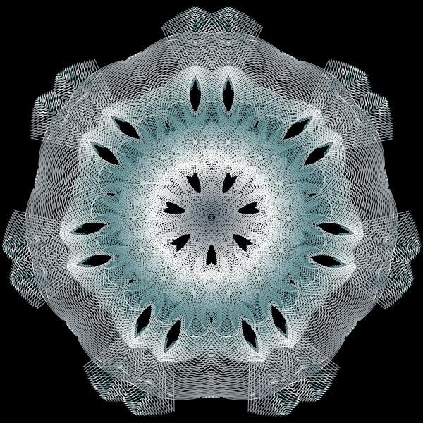 Colorful Geometric Line Art 8