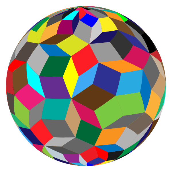 Colorful geometric sphere