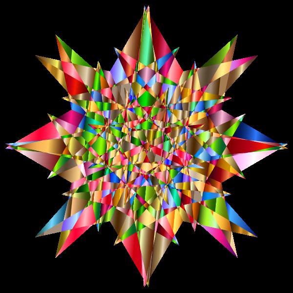 Colorful Geometric Star 4
