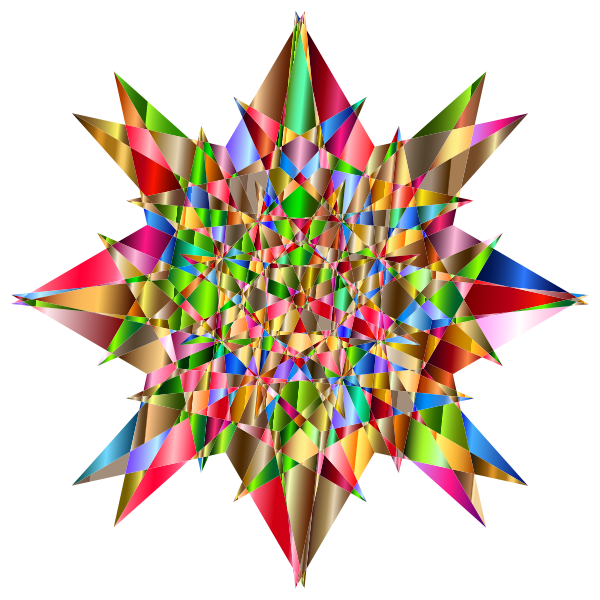 Colorful Geometric Star 4