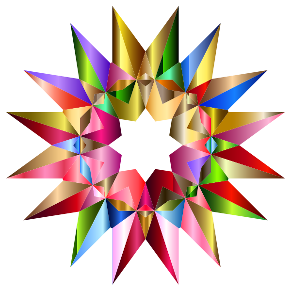 Colorful Geometric Star 5