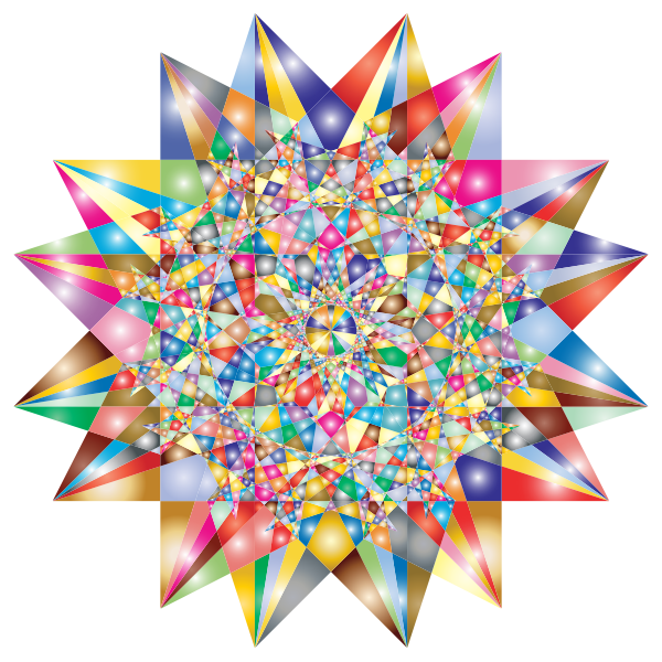 Colorful Geometric Star 6 Variation 2