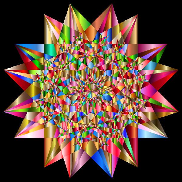 Colorful Geometric Star 6
