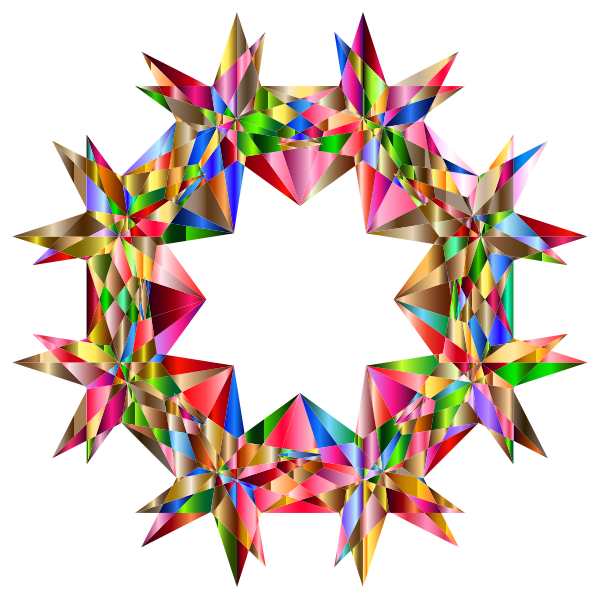 Colorful Geometric Star 7 Variation 2