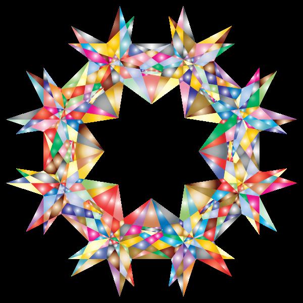Colorful Geometric Star 7