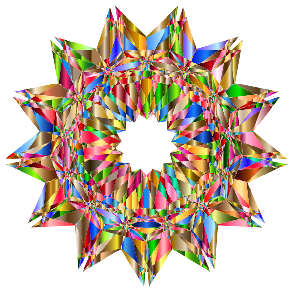 Colorful Geometric Star 8