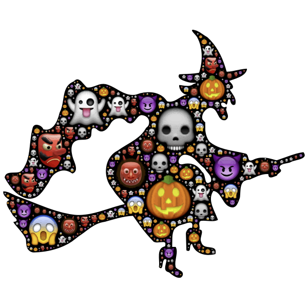 Colorful Halloween Witch