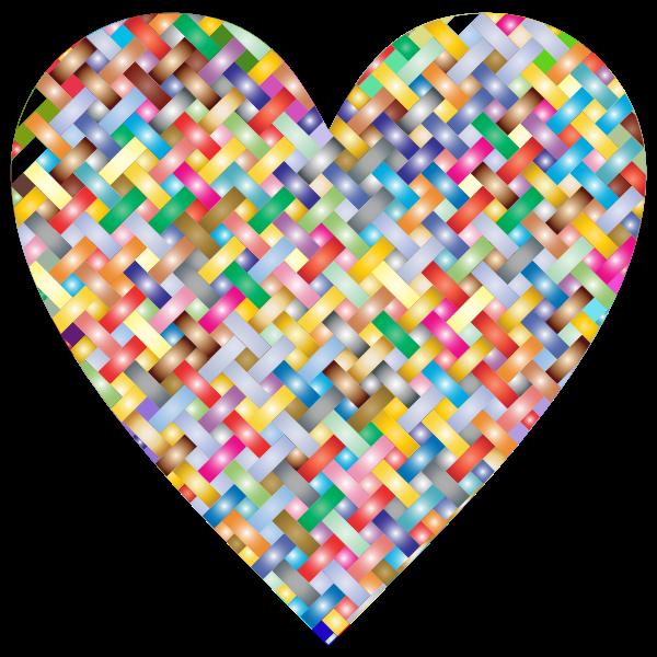 Colorful Heart Lattice Weave 3