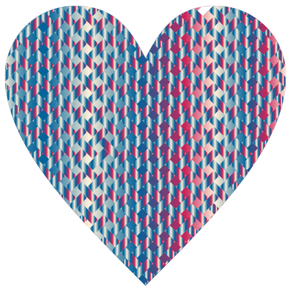 Colorful Heart Lattice Weave 7