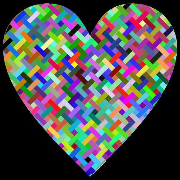 Colorful Heart Lattice Weave
