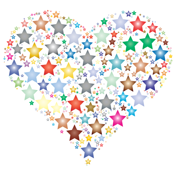 Colorful Heart Stars 2