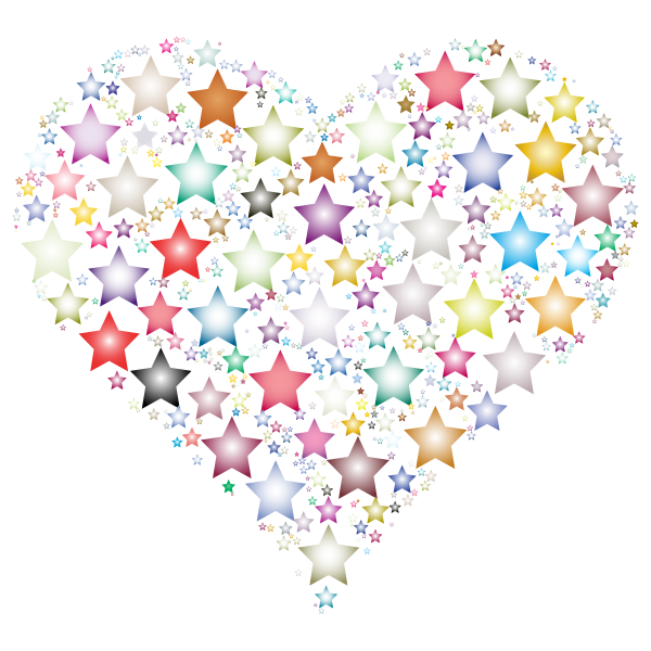 Colorful Heart Stars 3
