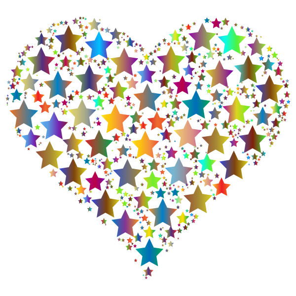 Colorful Heart Stars 4