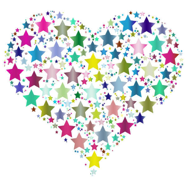 Colorful Heart Stars 6