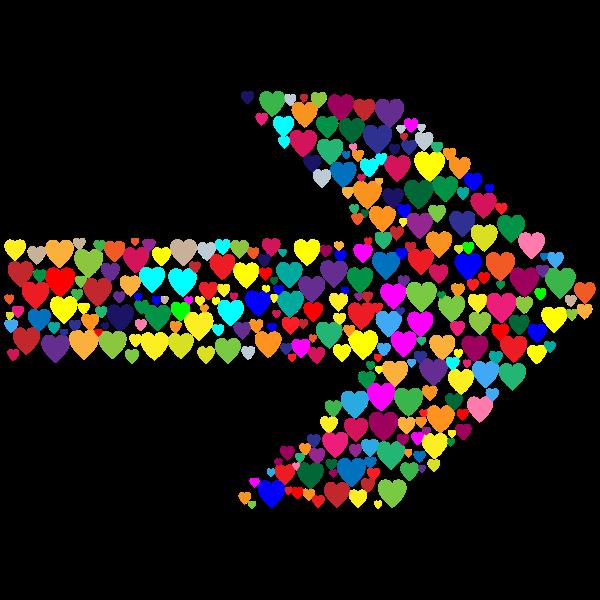 Colorful Hearts Arrow