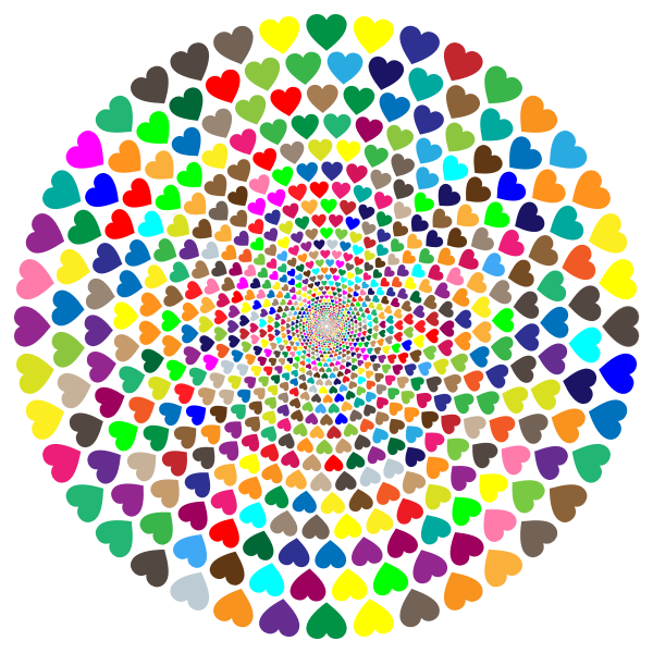 Colorful Hearts Vortex 2