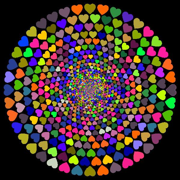 Colorful Hearts Vortex 3