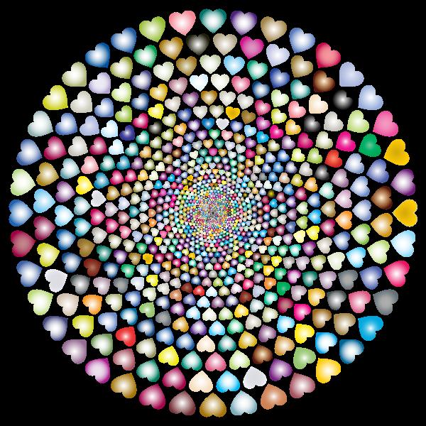 Colorful Hearts Vortex 5