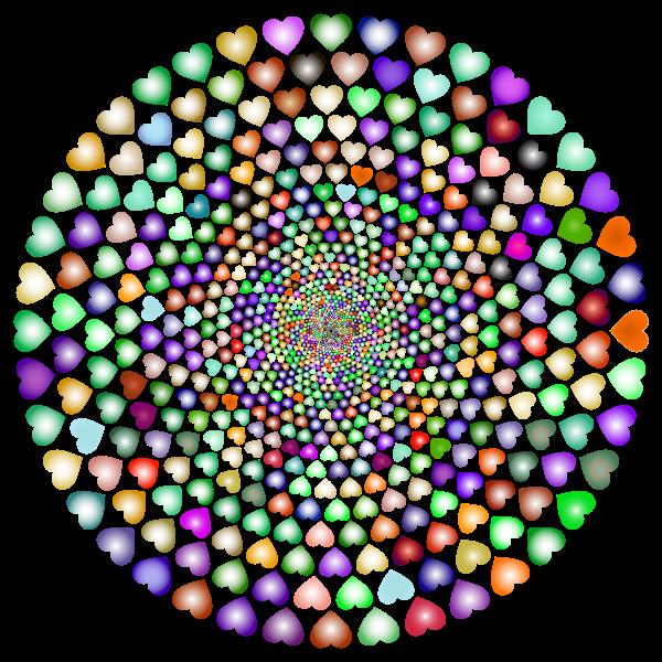 Colorful Hearts Vortex 6