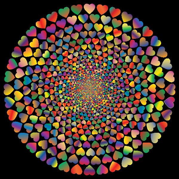 Colorful Hearts Vortex 9 Variation 2