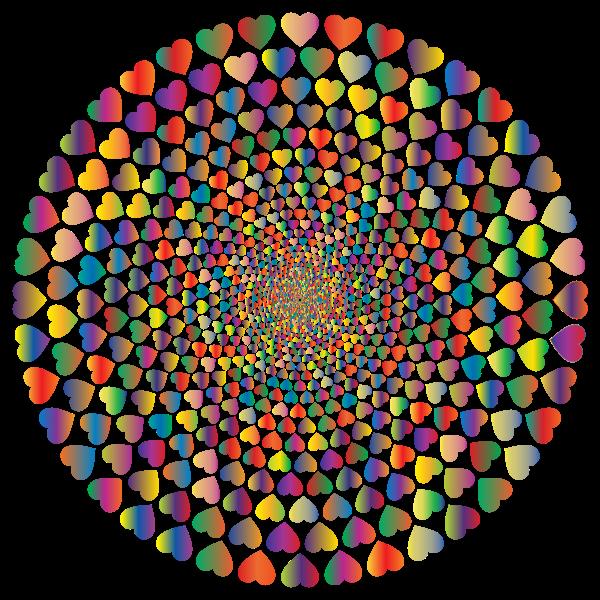 Colorful Hearts Vortex 9