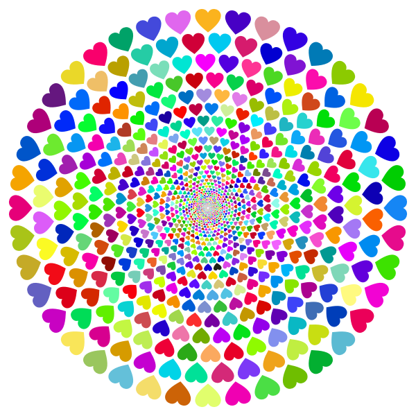 Colorful Hearts Vortex