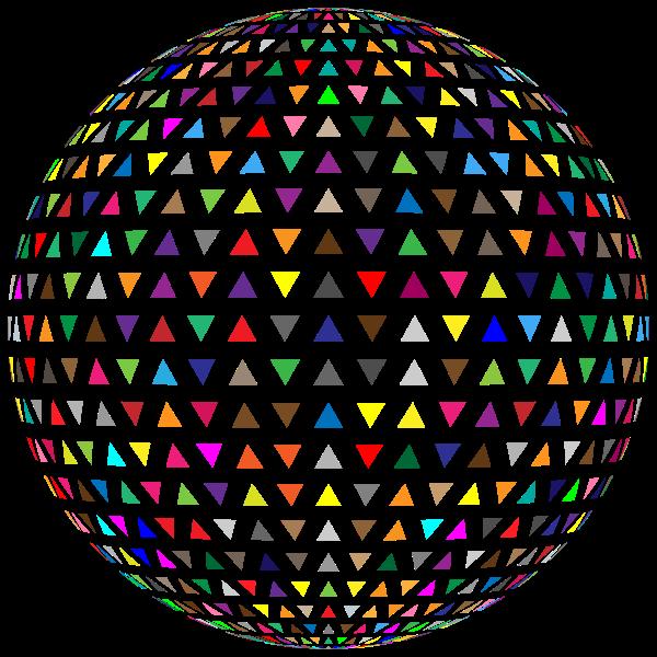Interlocking triangles sphere image