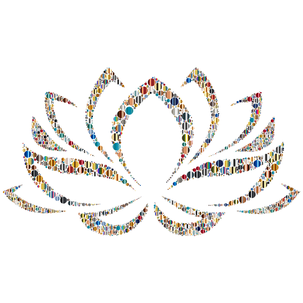 Colorful Lotus Flower Circles 5