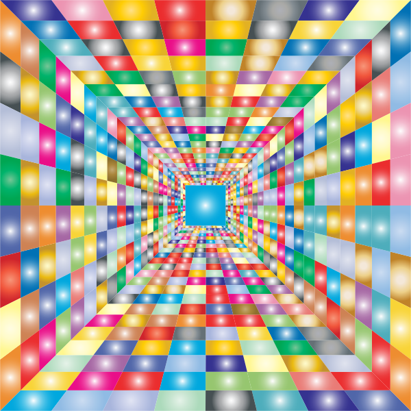 Colorful Perspective Grid