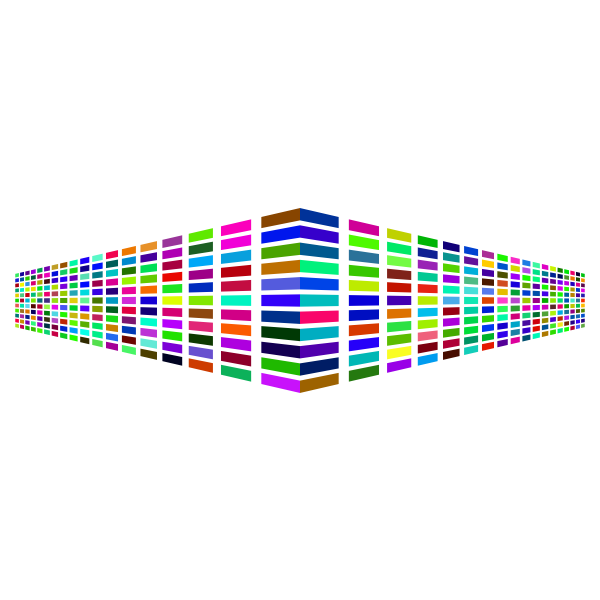 Colorful Perspective Squares