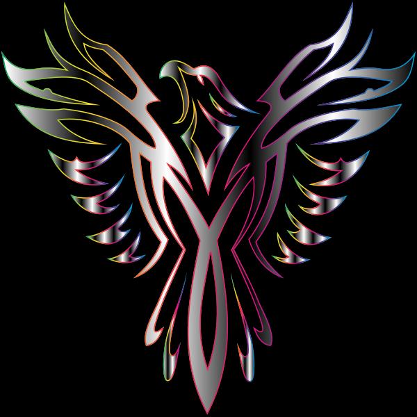 Colorful Phoenix Line Art 15