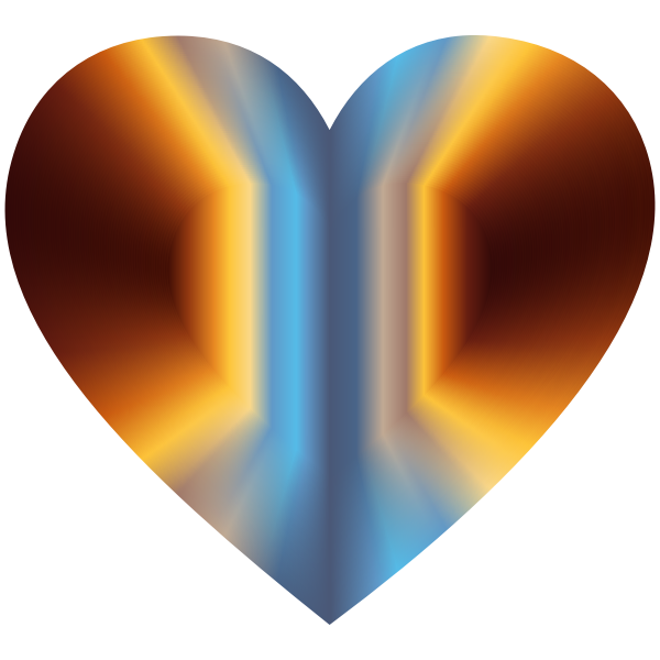 Colorful Refraction Heart