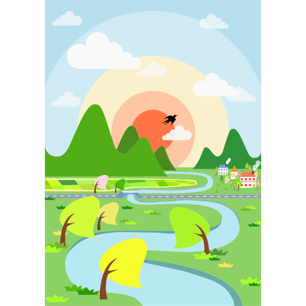 Colorful Rural Landscape
