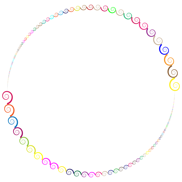 Colorful Spirals Circle