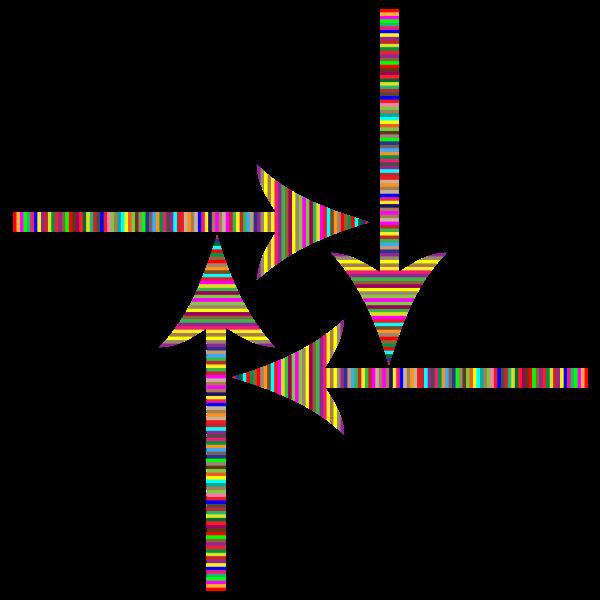 Colorful Striped Arrows