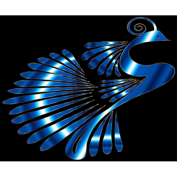 Colorful Stylized Peacock 24