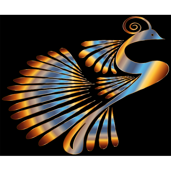 Colorful Stylized Peacock 4