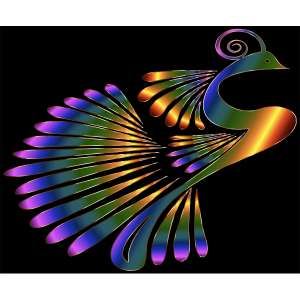 Colorful Stylized Peacock 5