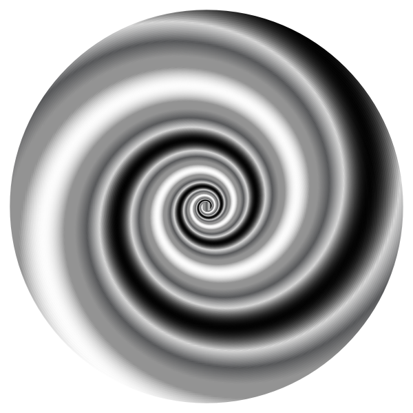 Colorful Swirling Vortex  Black and White