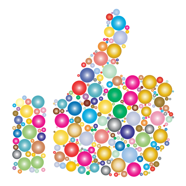 Colorful Thumbs Up Circles 3