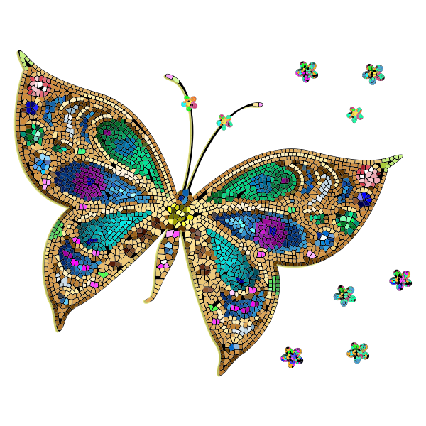 Colorful Tiled Butterfly