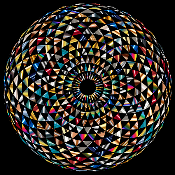Colorful Toroid Mandala 6 With Black Background