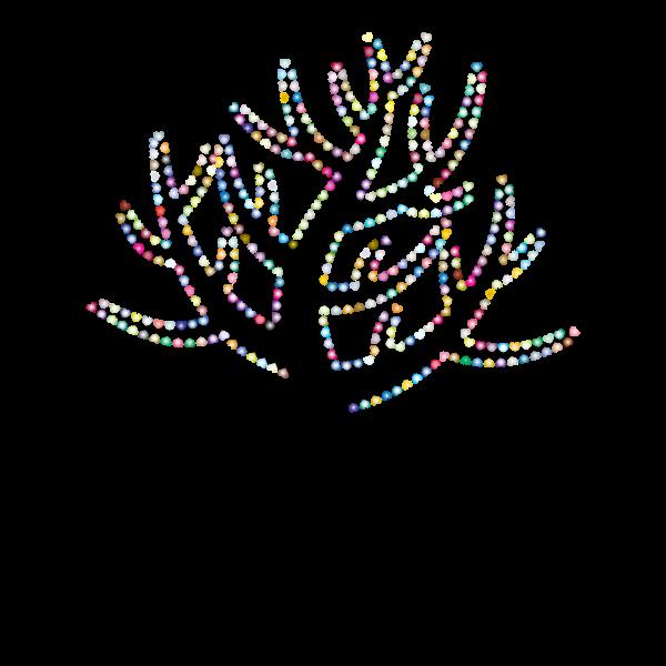 Colorful Valentine Hearts Tree 4