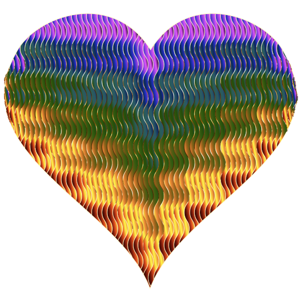 Colorful Wavy Heart 5 Variation 2