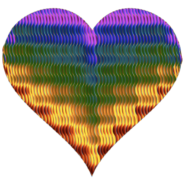 Colorful Wavy Heart 5 Variation 3