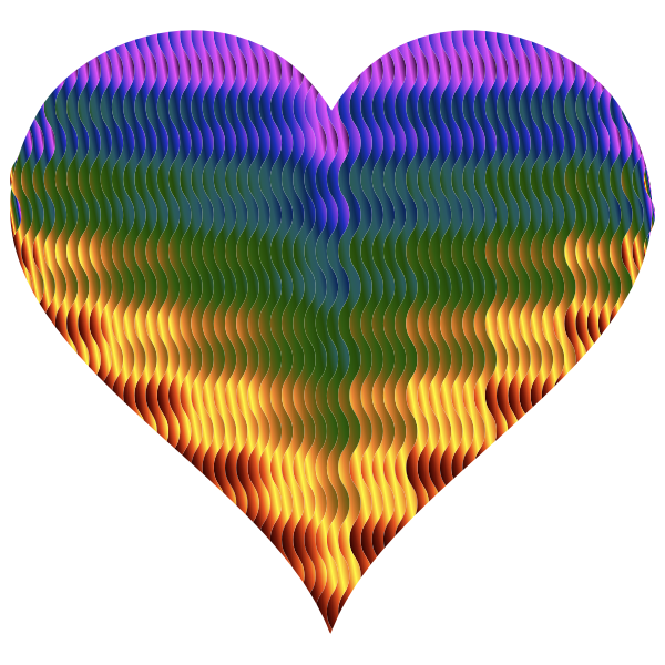 Colorful Wavy Heart 5