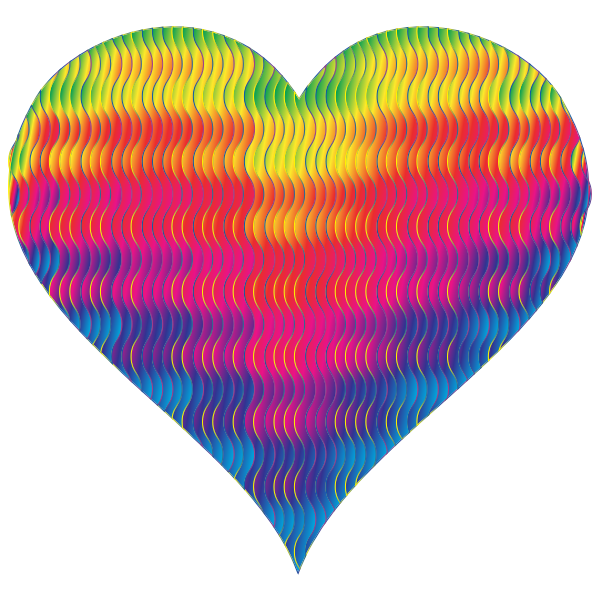 Colorful Wavy Heart 8