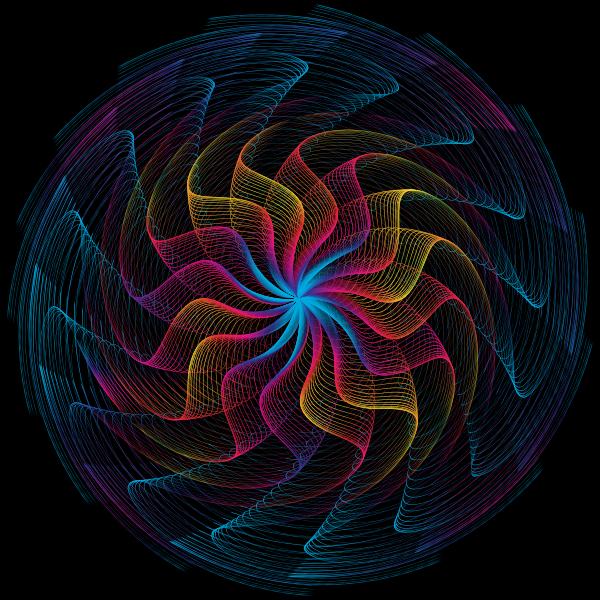 Colorful Wavy Vortex Line Art 10