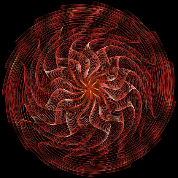 Colorful Wavy Vortex Line Art 11