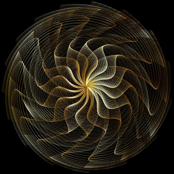 Colorful Wavy Vortex Line Art 2